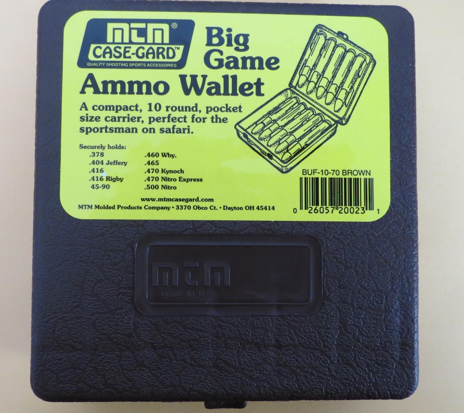 Gunworks Ltd - MTM Ammo Wallet for BIG game  378, 404